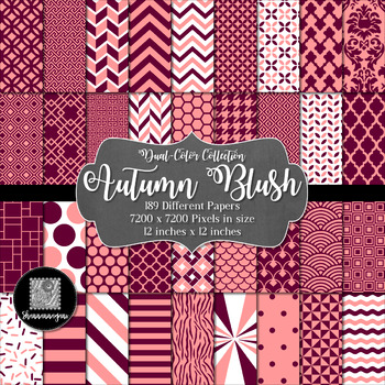 12x12 Digital Paper - Color Scheme Collection: Autumn Blus