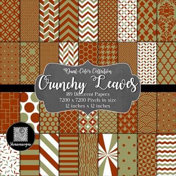 12x12 Digital Paper - Color Scheme Collection: Crunchy Lea