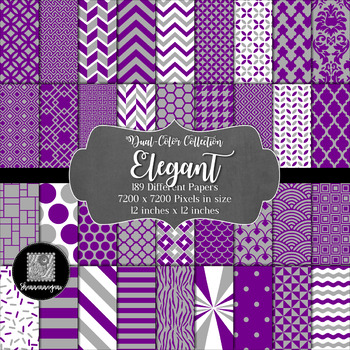 12x12 Digital Paper - Color Scheme Collection: Elegant (600dpi)