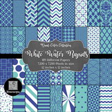 12x12 Digital Paper - Dual-Color Collection: White Water Rapids