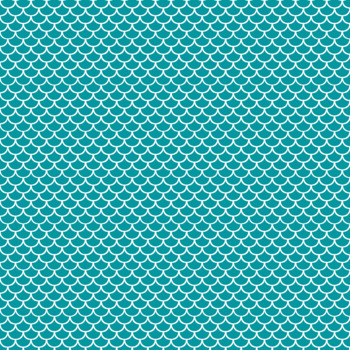 12x12 Digital Paper - Colorful and White - Scalloped (Mermaid) - 600dpi