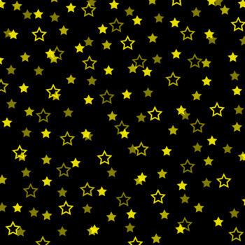 12x12 Digital Paper - Confetti: Black Background - Colorful Stars (600dpi)