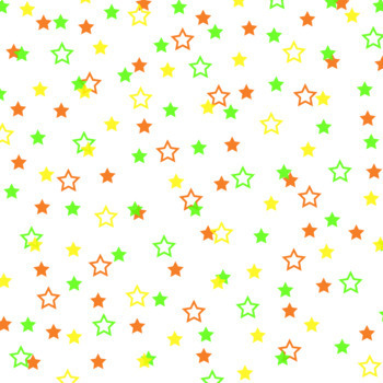 12x12 Digital Paper - Confetti: White Background - Colorful Stars (600dpi)