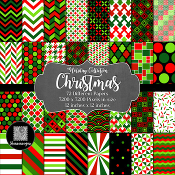 12x12 Digital Paper - Holiday Collection: Christmas