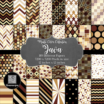 12x12 Digital Paper - Multi-Color Collection: Java