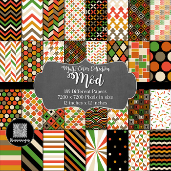 12x12 Digital Paper - Mod Collection (600dpi)