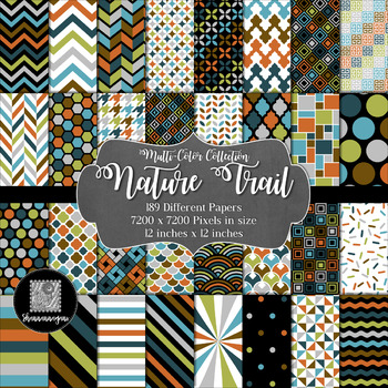 12x12 Digital Paper - Collection: Nature Trail (600dpi)