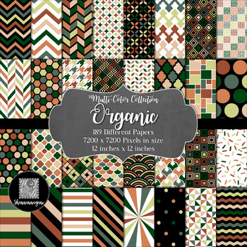 12x12 Digital Paper - Multi-Color Collection: Organic