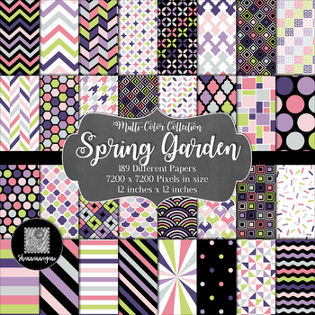 12x12 Digital Paper - Multi-Color Collection: Spring Garden