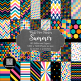 12x12 Digital Paper - Summer Collection (600dpi)