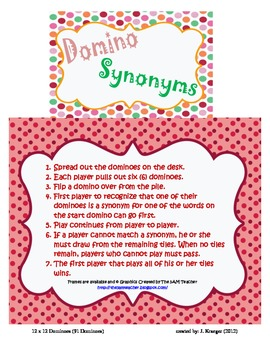 12x12 Synonym Dominoes
