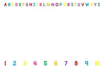 12x18 Alphabet & Number Lunch Mats