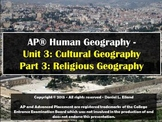 AP Human Geography Unit 3: Cultural Geography - Part 3: Religion