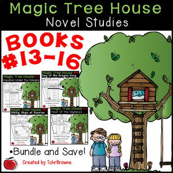#13-16 Magic Tree House Book  Novel Study Units
