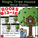#13-16 Magic Tree House Book  Novel Study Bundle