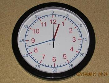 13 3/4in Teaching Wall Clock (+$10 shipping)