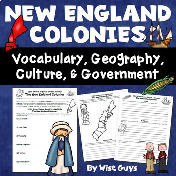 13 American Colonies New England Middle and Southern Regions Bundle