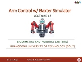 13. Arm Control with the Baxter Simulator