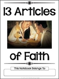 13 Articles of Faith Copywork Notbeook - Manuscript