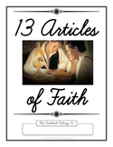 13 Articles of Faith Copywork Notebook