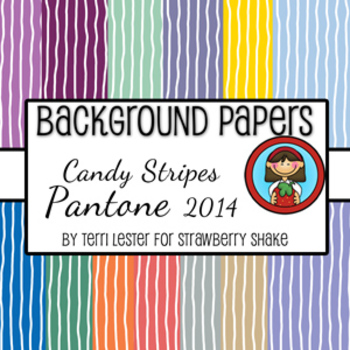 13 Background Papers Candy Stripe Pantone 2014 12x12 personal and commercial use