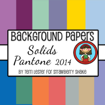 13 Background Papers Solids Pantone 2014 12x12 for personal and commercial use