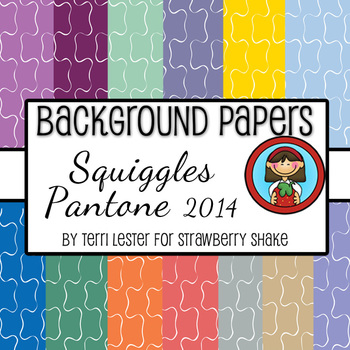 13 Background Papers Squiggle Pantone 2014 12x12 for personal and commercial use