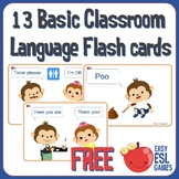 13 Basic Classroom Language Cards for Circle Time