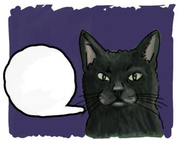 13 Black Cat Clip Art and Sticker Set for Halloween