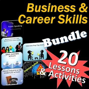 Business and Career Skills 21 Lessons Activity Bundle ++ Bonus Files