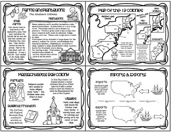 13 COLONIES - ANCHOR CHARTS (New England / Mid-Atlantic / Southern) Grades 3-5