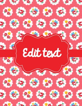 13 Cath Kidston Inspired Binder Covers