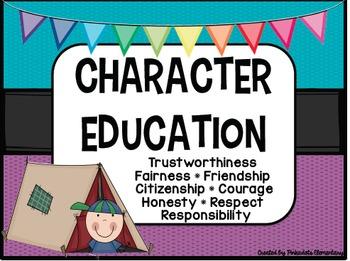 Character Education Posters! Perfect for any classroom! Camping Theme!