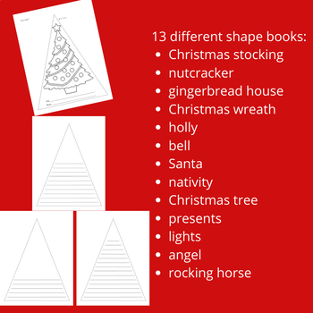 13 Christmas Shape Books for Creative Writing, Reports, Poetry and More!