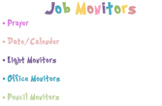 13 Classroom Jobs/Montiors- Rainbow colours and Dr. Seuss