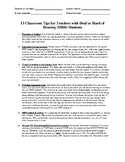 13 Classroom Tips for Teachers with Students who are Deaf and Hard of Hearing