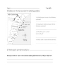 13 Colonials Map Worksheet