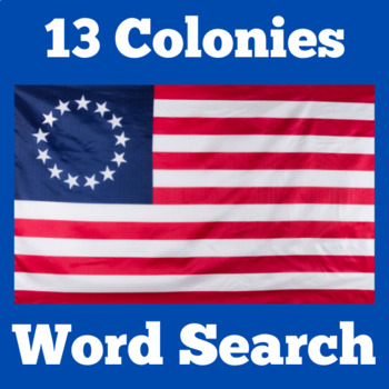 Thirteen Colonies Activity   13 Colonies Activity ( WORD SEARCH)