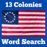 13 Colonies Activity | 13 Colonies Worksheet | 13 Colonies Word Search