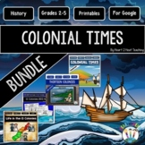 13 Colonies Activities Bundle: Life in Colonial Times {Both Print and Digital}