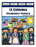 13 Colonies Vocabulary Posters & Activities