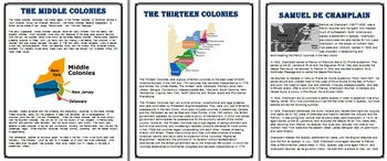 13 Colonies A Research Project