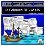 13 Colonies Activities: BIG-MATS® are FUN in a BIG Way! {11x17}