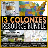 13 Colonies Distance Learning Activities Bundle   Thirteen