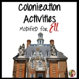 13 Colonies Activities for ELL