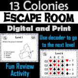 13 Colonies Activity: Escape Room (Social Studies: American History)