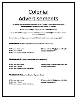 13 Colonies Advertisement Assessment