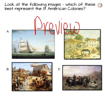 13 Colonies - American Colonies Presentation and Writing Activity