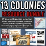 13 Colonies (American Colonies) - Resource Bundle (Projects, Webquests, etc.)