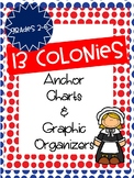 13 Colonies Anchor Charts and Graphic Organizers